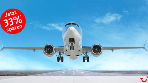 Flüge bei TUI fly 33 Prozent günstiger buchen